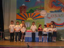 A performance by pupils of the school