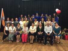 Graduates with teachers and governors 2016